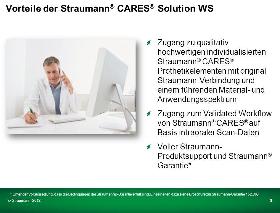 Wer profitiert von der Straumann ® CARES ® Solution WS.