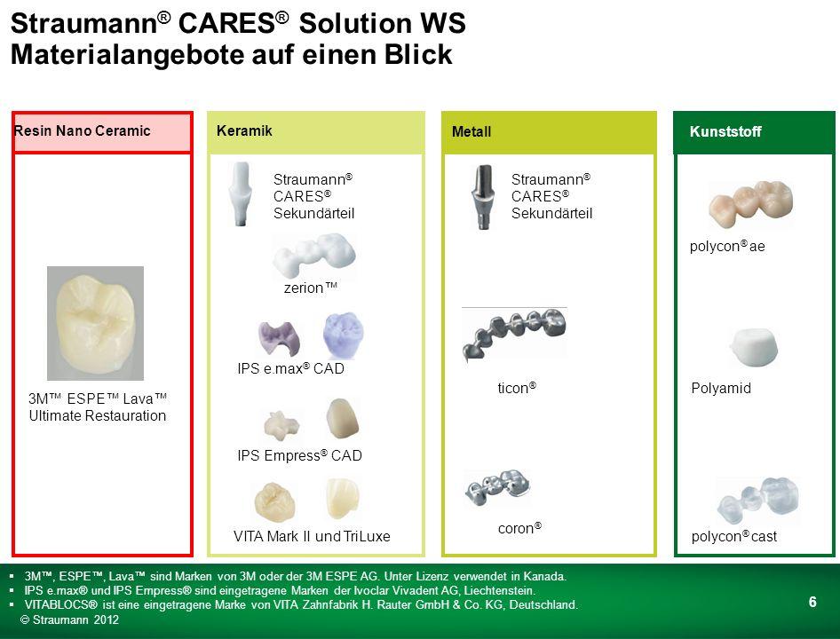 Warum sollten Sie in die Straumann ® CARES ® Solution Working Station investieren.