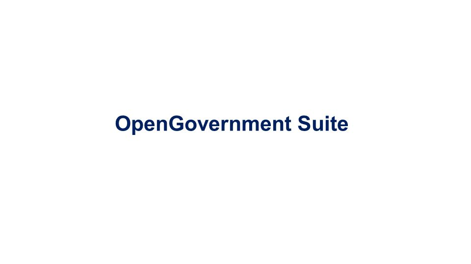 OpenGovernment Suite