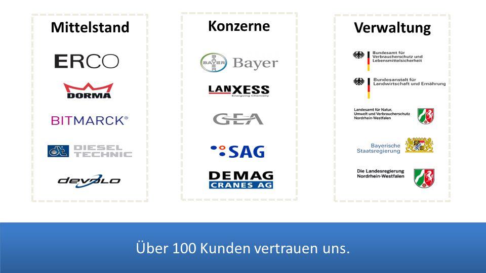 Verwaltung Konzerne Mittelstand Über 100 Kunden vertrauen uns.