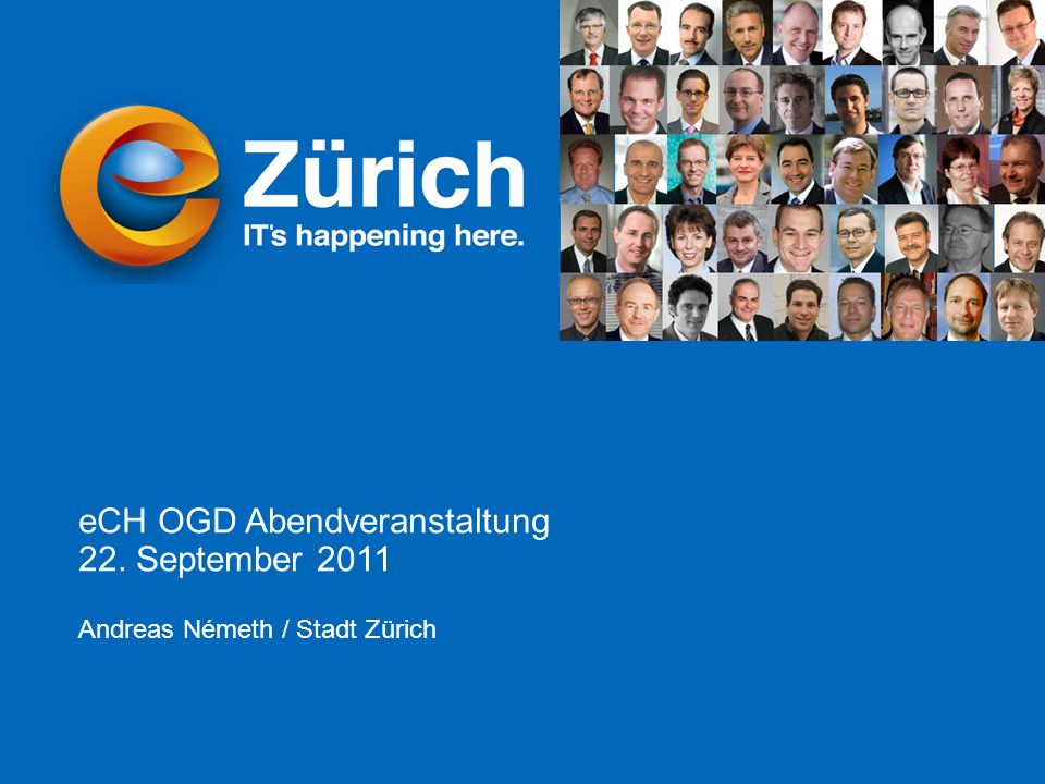 Andreas Németh © eZürich eCH Abendevent Open Government Data 22.