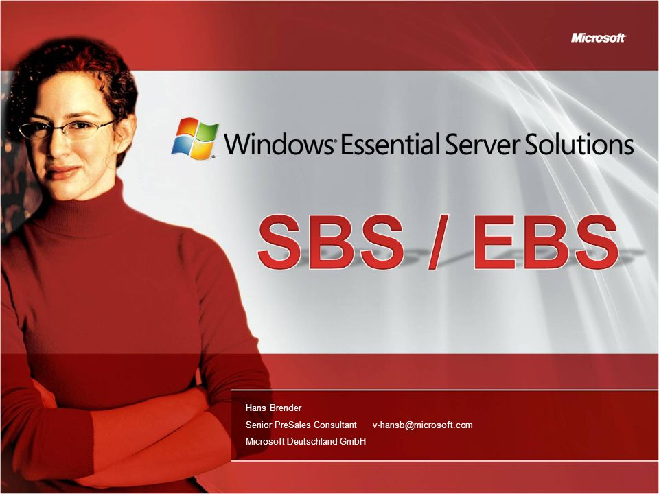 The Windows SBS is Too Complex Myth Windows SBS 2008 is complex to install Deployment, setup and administration made easy More wizards Setup only answering business-related questions Simple language to explain each step More customization via post-setup configuration Answer file creates consistency in deployment which makes standardization possible Simplifies supporting multiple implementations Can run in unattended mode making it more efficient to deploy Very powerful for partners offering managed services Streamlined Administration Console Remotely accessible reports Monitoring across servers and client PCs Customizable
