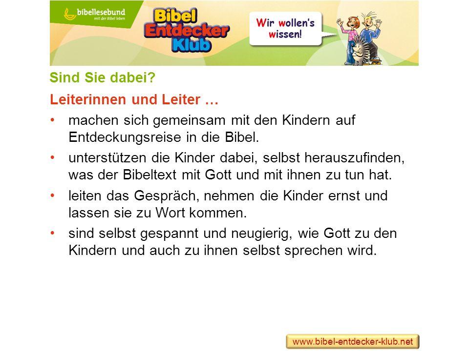 Handbuch (als PDF zum Download) Aus dem Inhalt: Was macht den Bibel-Entdecker-Klub für Kinder interessant.