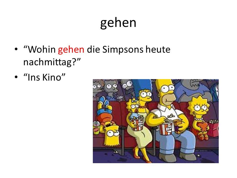 gehen Wohin gehen die Simpsons heute nachmittag? Ins Kino