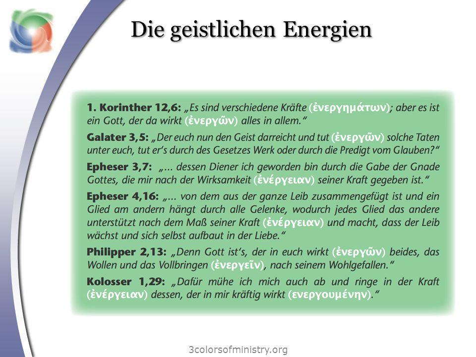 Die geistlichen Energien 3colorsofministry.org