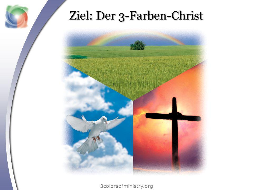 Kategorie 2: der rote Farbbereich 3colorsofministry.org Die im roten Farbbereich aufgeführten Gaben beziehen sich auf die Verkündigung des Evangeliums und darauf, Menschen beim Wachstum im Glauben zu helfen.
