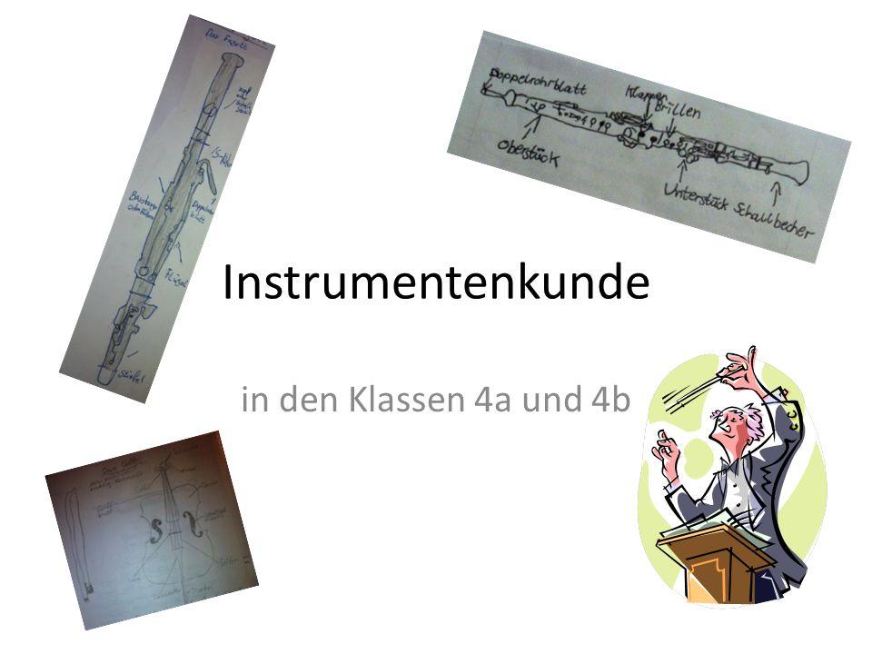 Instrumentenkunde in den Klassen 4a und 4b