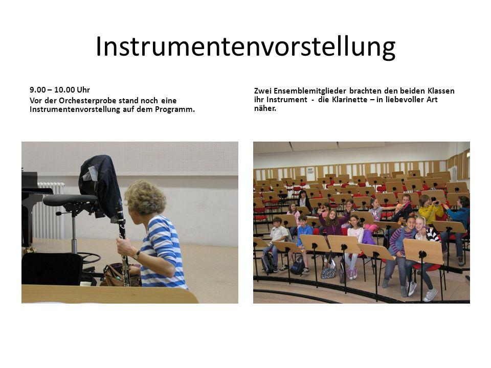 Besuch einer Orchesterprobe Am 4. Mai 2012 unternahmen die beiden Klassen eine Unterrichtsgang. Sie besuchten eine Orchesterprobe des Museumsorchester