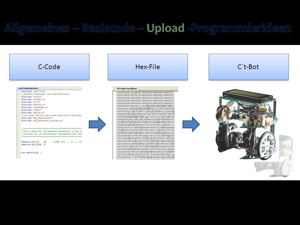 C-Code Hex-File C´t-Bot