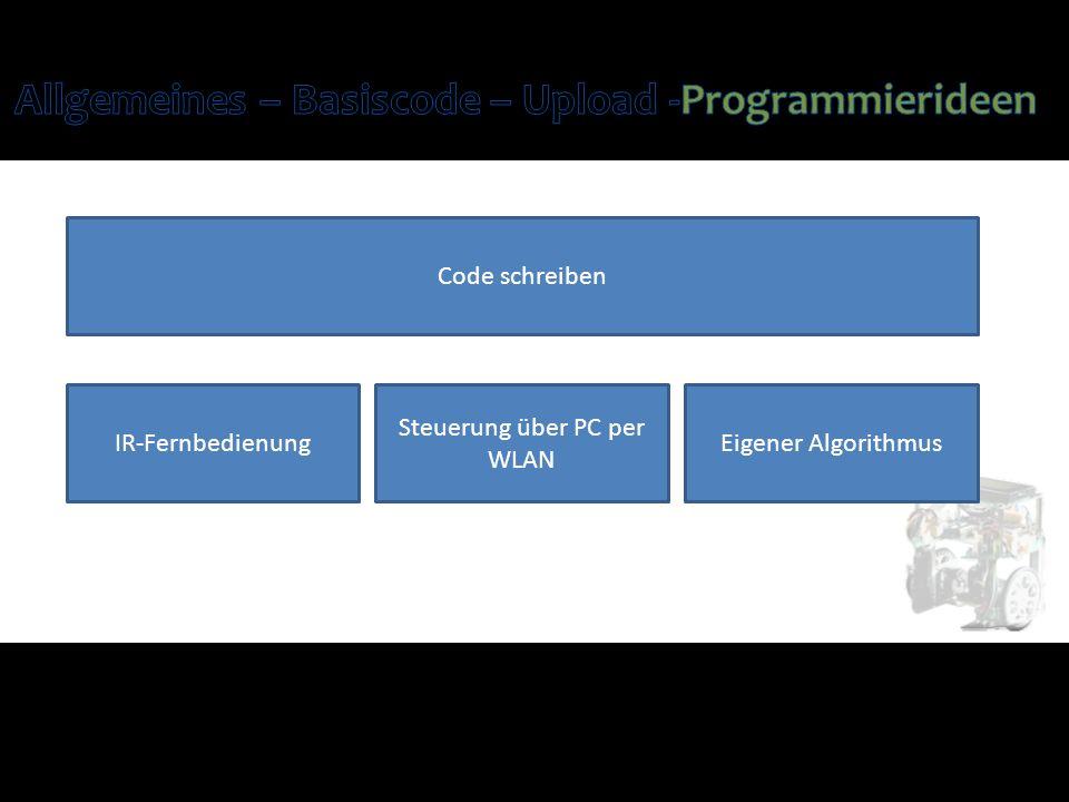 Code schreiben IR-Fernbedienung Steuerung über PC per WLAN Eigener Algorithmus