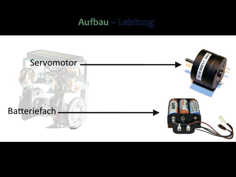 Servomotor Batteriefach