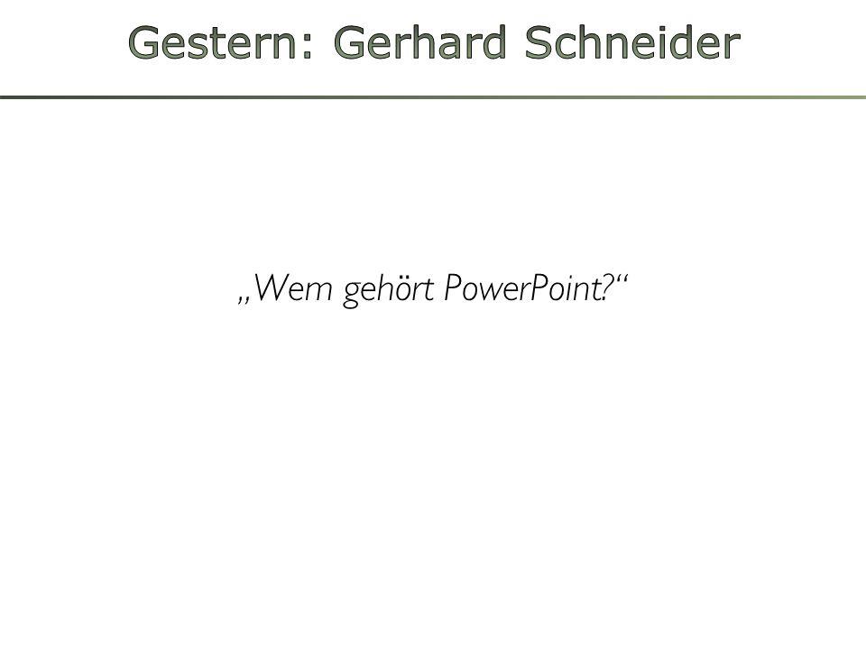 Wem gehört PowerPoint?