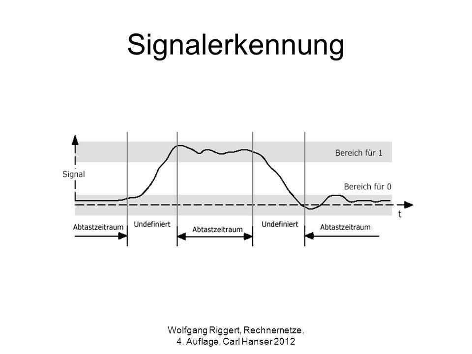 Signalerkennung Wolfgang Riggert, Rechnernetze, 4. Auflage, Carl Hanser 2012