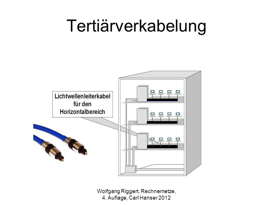 Tertiärverkabelung Wolfgang Riggert, Rechnernetze, 4. Auflage, Carl Hanser 2012