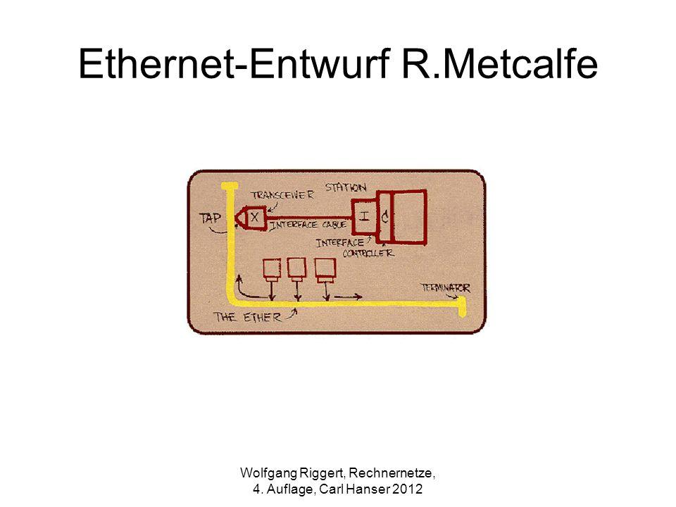 Wolfgang Riggert, Rechnernetze, 4. Auflage, Carl Hanser 2012 Ethernet-Entwurf R.Metcalfe