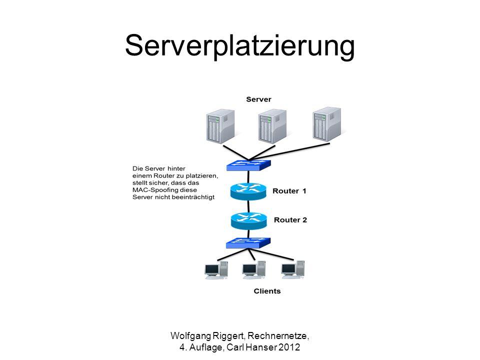 Wolfgang Riggert, Rechnernetze, 4. Auflage, Carl Hanser 2012 Serverplatzierung