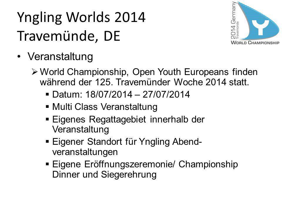 Yngling Worlds 2014 Travemünde, DE Veranstaltung World Championship, Open Youth Europeans finden während der 125. Travemünder Woche 2014 statt. Datum: