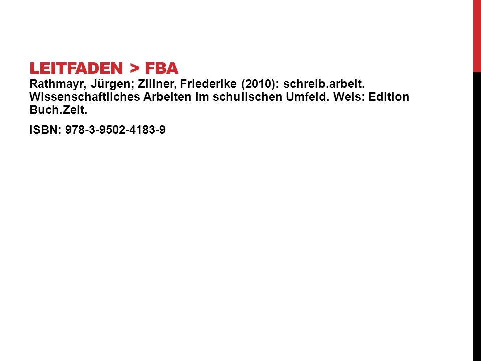 Rathmayr, Jürgen; Zillner, Friederike (2010): schreib.arbeit. Wissenschaftliches Arbeiten im schulischen Umfeld. Wels: Edition Buch.Zeit. ISBN: 978-3-