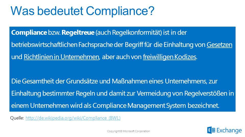 Compliance bzw. Regeltreue (auch Regelkonformität) ist in der betriebswirtschaftlichen Fachsprache der Begriff für die Einhaltung von Gesetzen und Ric