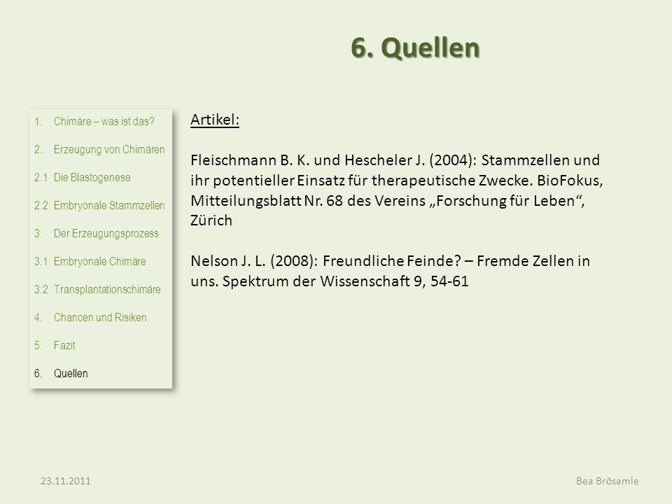 Artikel: Fleischmann B. K. und Hescheler J. (2004): Stammzellen und ihr potentieller Einsatz für therapeutische Zwecke. BioFokus, Mitteilungsblatt Nr.