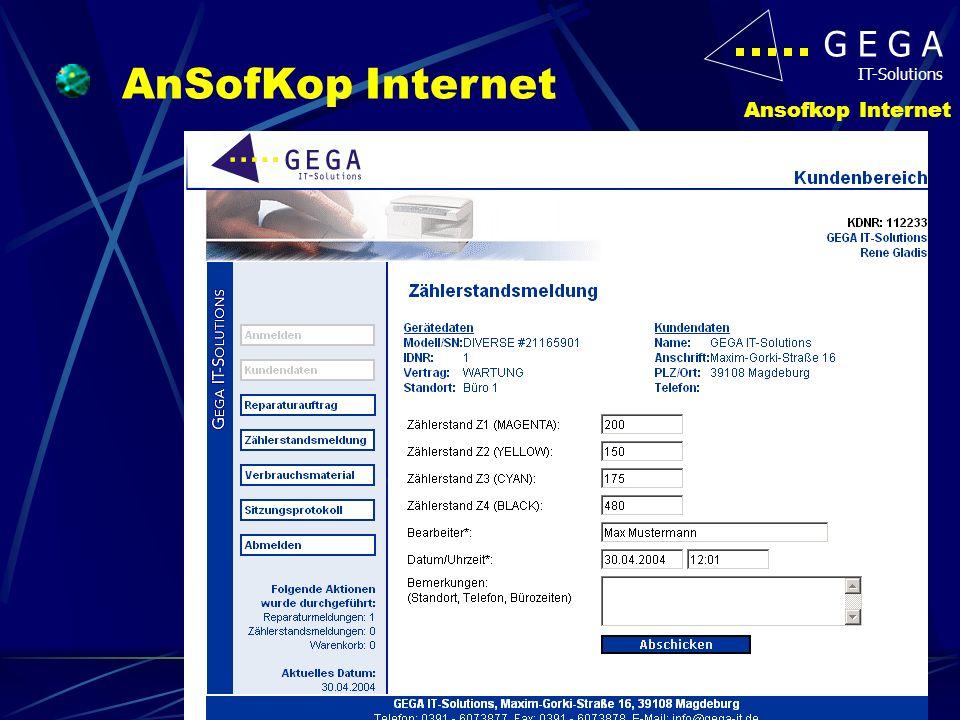 G E G A IT-Solutions Ansofkop Internet AnSofKop Internet