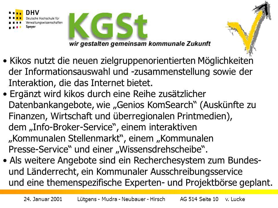 24.Januar 2001 Lütgens - Mudra - Neubauer - Hirsch AG 514 Seite 9 v.