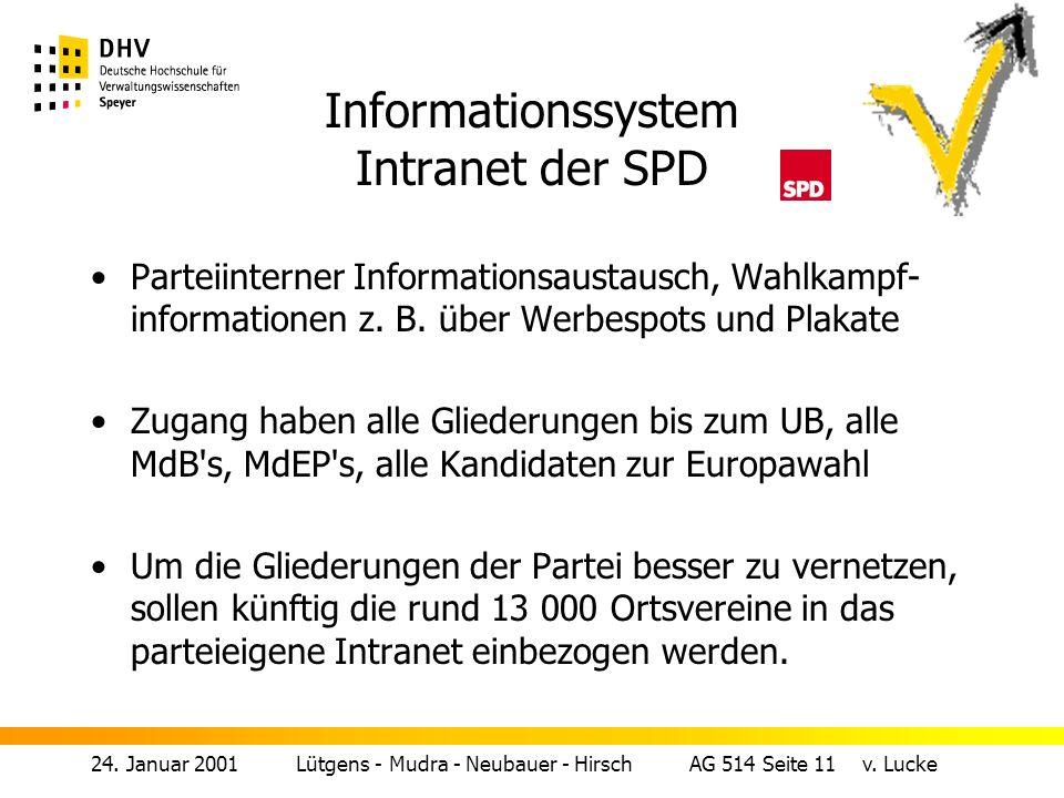 24.Januar 2001 Lütgens - Mudra - Neubauer - Hirsch AG 514 Seite 10 v.