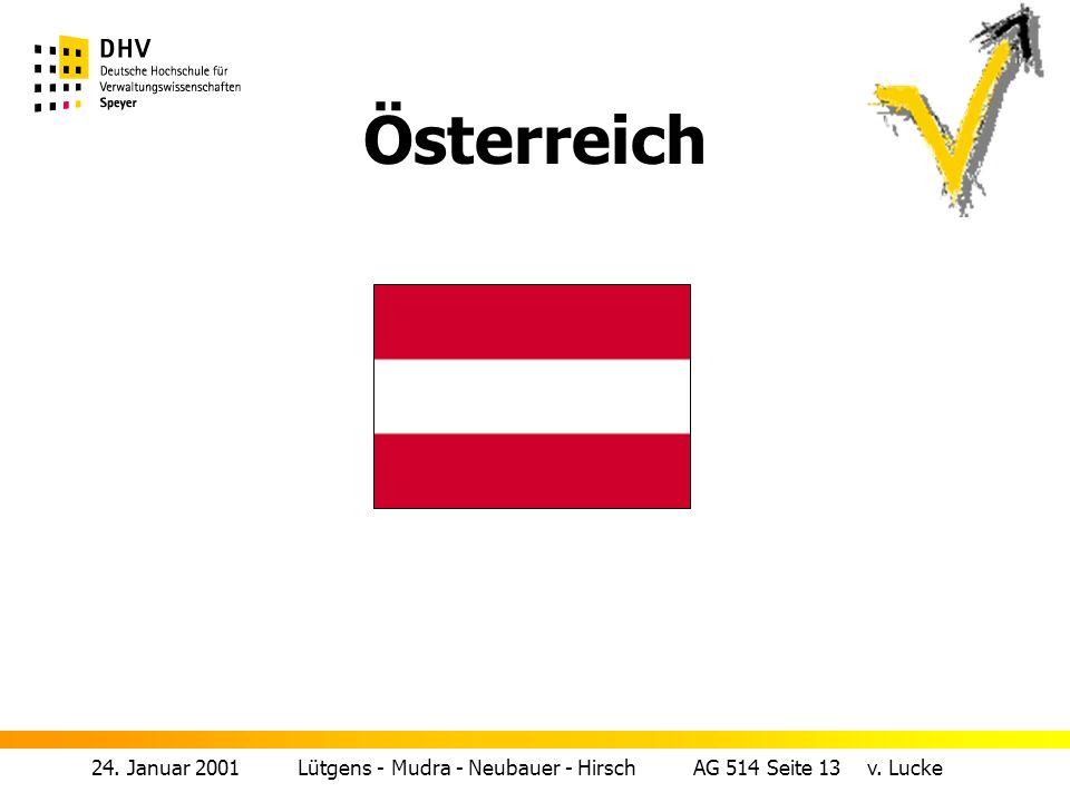 24. Januar 2001 Lütgens - Mudra - Neubauer - Hirsch AG 514 Seite 13 v. Lucke Österreich