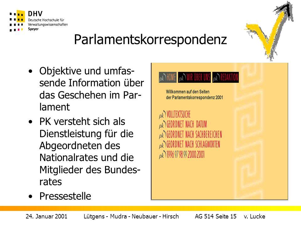 24.Januar 2001 Lütgens - Mudra - Neubauer - Hirsch AG 514 Seite 15 v.
