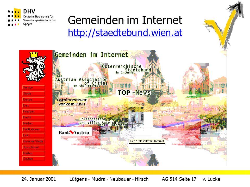 24.Januar 2001 Lütgens - Mudra - Neubauer - Hirsch AG 514 Seite 17 v.
