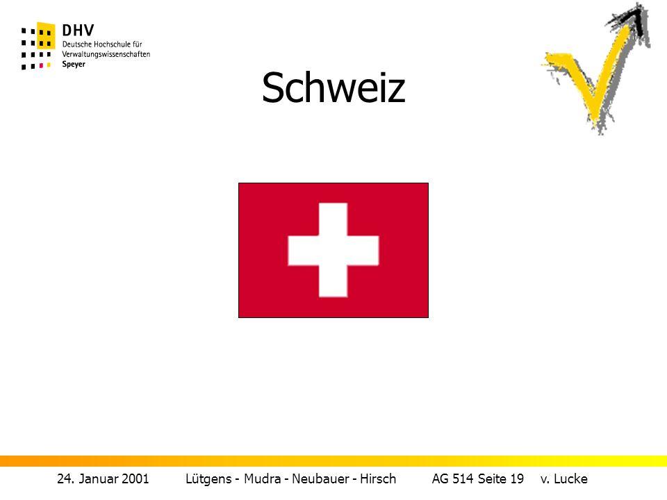 24. Januar 2001 Lütgens - Mudra - Neubauer - Hirsch AG 514 Seite 19 v. Lucke Schweiz