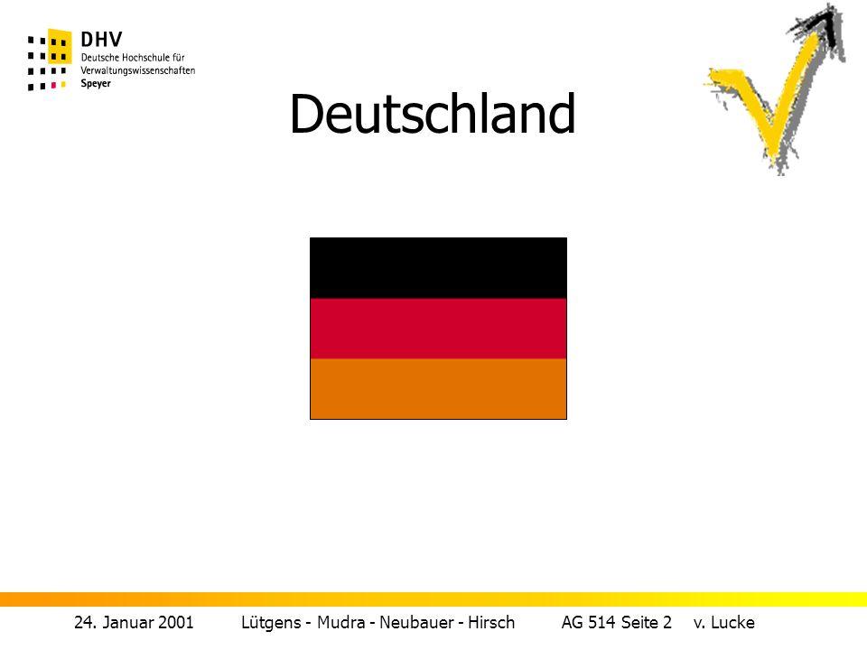 24. Januar 2001 Lütgens - Mudra - Neubauer - Hirsch AG 514 Seite 2 v. Lucke Deutschland