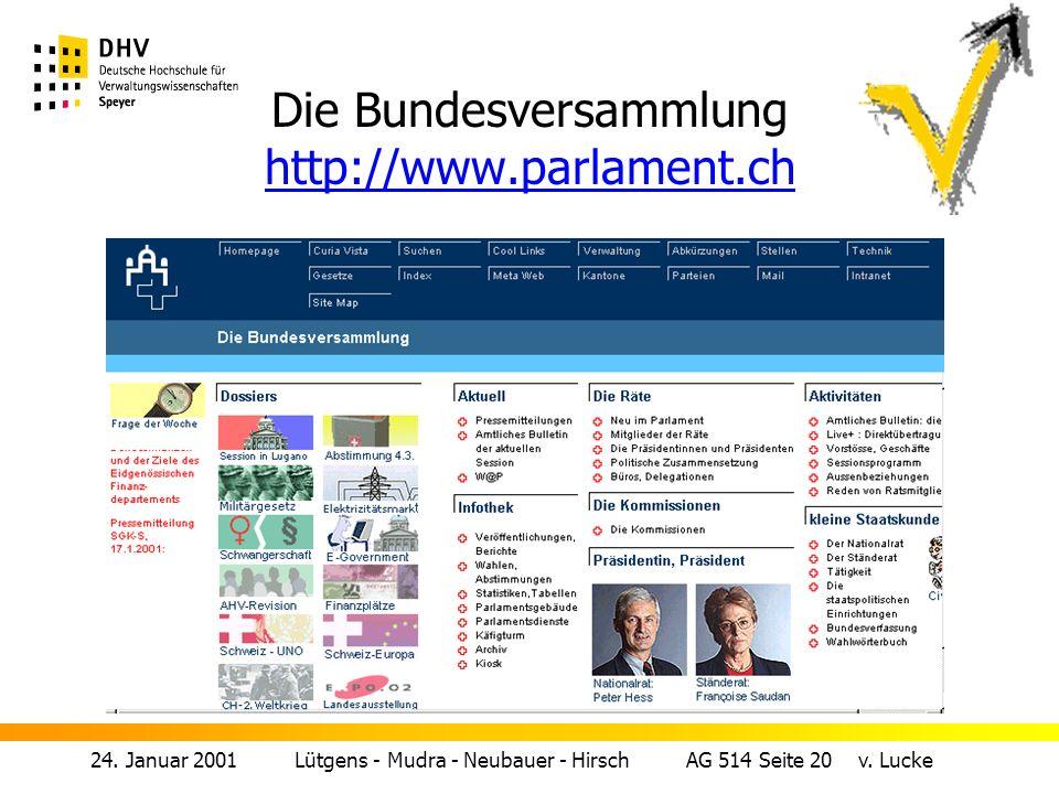 24.Januar 2001 Lütgens - Mudra - Neubauer - Hirsch AG 514 Seite 20 v.