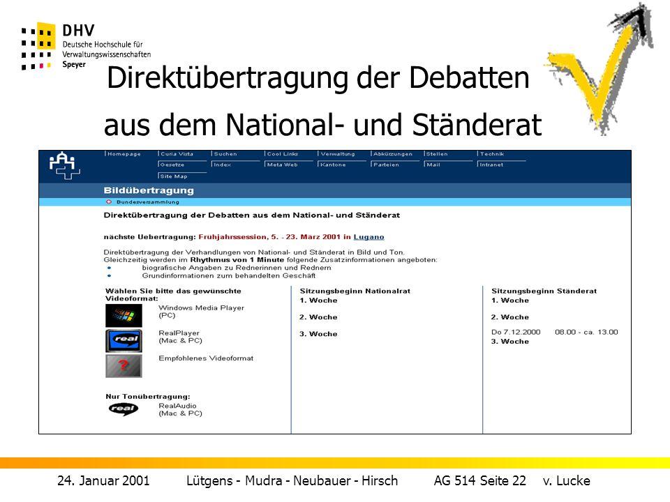24.Januar 2001 Lütgens - Mudra - Neubauer - Hirsch AG 514 Seite 21 v.