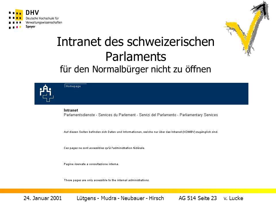 24.Januar 2001 Lütgens - Mudra - Neubauer - Hirsch AG 514 Seite 22 v.