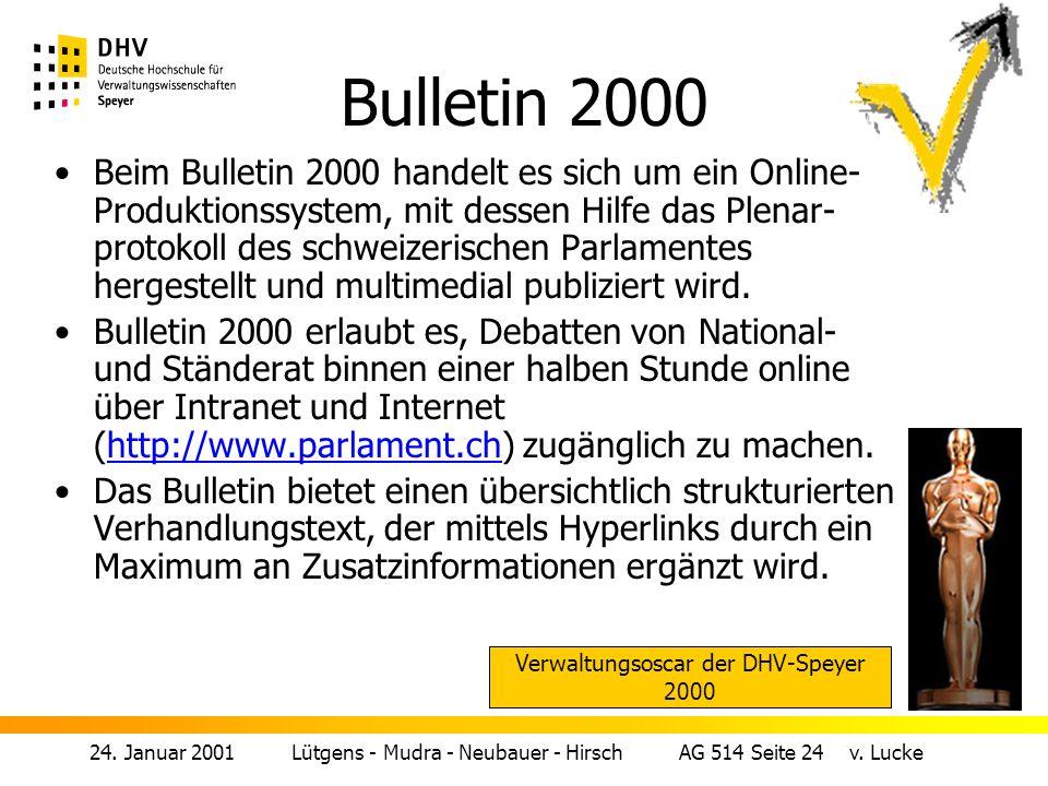 24.Januar 2001 Lütgens - Mudra - Neubauer - Hirsch AG 514 Seite 24 v.