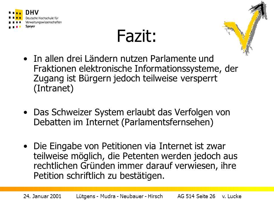 24.Januar 2001 Lütgens - Mudra - Neubauer - Hirsch AG 514 Seite 26 v.