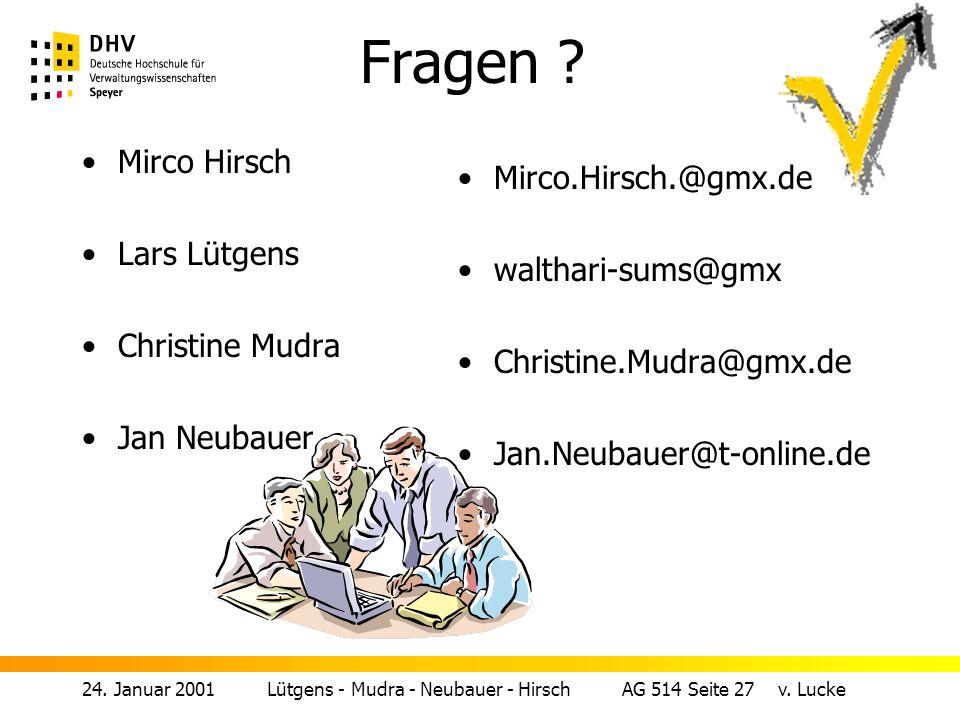 24.Januar 2001 Lütgens - Mudra - Neubauer - Hirsch AG 514 Seite 27 v.