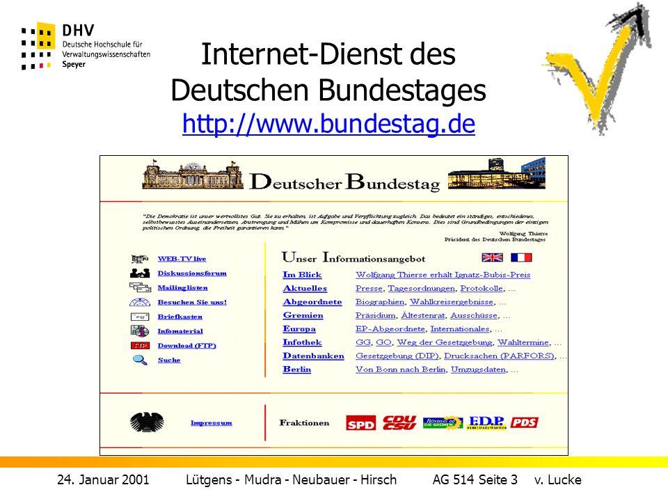 24.Januar 2001 Lütgens - Mudra - Neubauer - Hirsch AG 514 Seite 3 v.