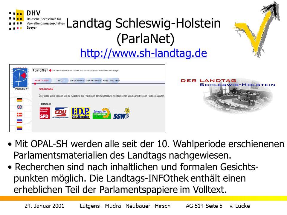 24.Januar 2001 Lütgens - Mudra - Neubauer - Hirsch AG 514 Seite 5 v.