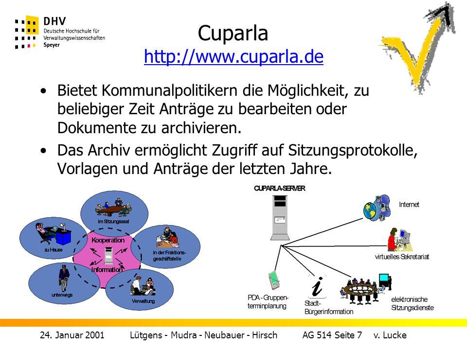 24.Januar 2001 Lütgens - Mudra - Neubauer - Hirsch AG 514 Seite 6 v.