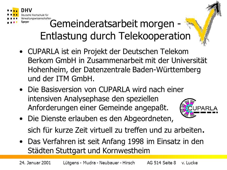 24.Januar 2001 Lütgens - Mudra - Neubauer - Hirsch AG 514 Seite 7 v.
