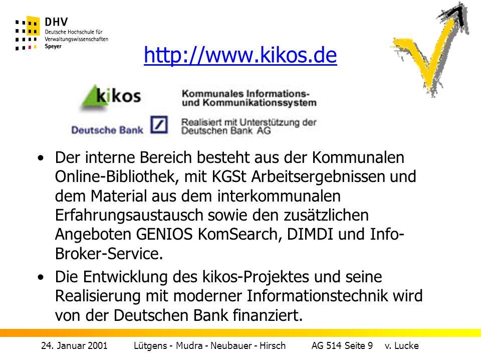 24.Januar 2001 Lütgens - Mudra - Neubauer - Hirsch AG 514 Seite 8 v.