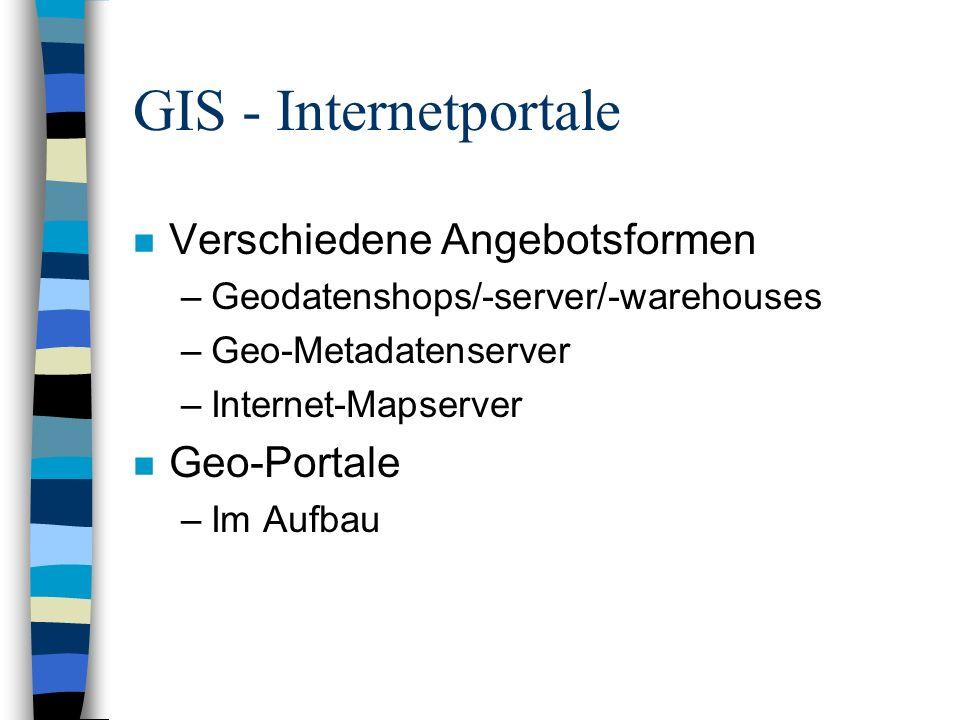 GIS - Geodatenshops n Durchklicken bis zur gewünschten Karte n Angebotsformen: –elektronisch –auf Papier n Online bezahlen n Download oder per Post auf CD