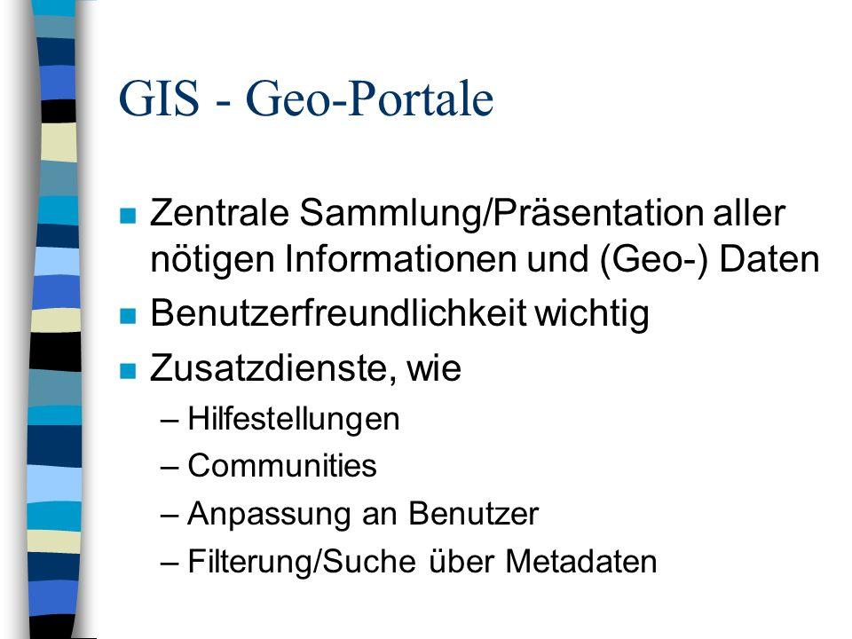 GIS - Anwendungen n Interaktive Stadtpläne –Ein-/Ausblendung von Zusatzdaten –Zoom, bei Erhalt der Auflösung (Vektordaten!) n Verfügbarkeitsanzeige von TK-Diensten n Navigationssysteme n Notrufdienste n Ausbildung