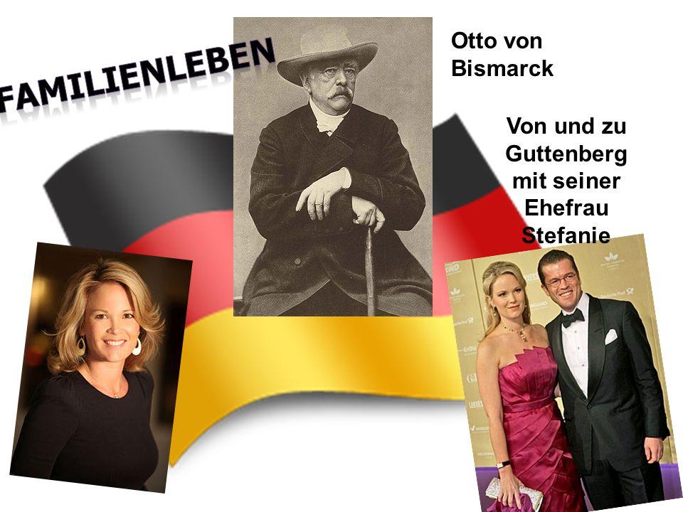 Otto von Bismarck Von und zu Guttenberg mit seiner Ehefrau Stefanie