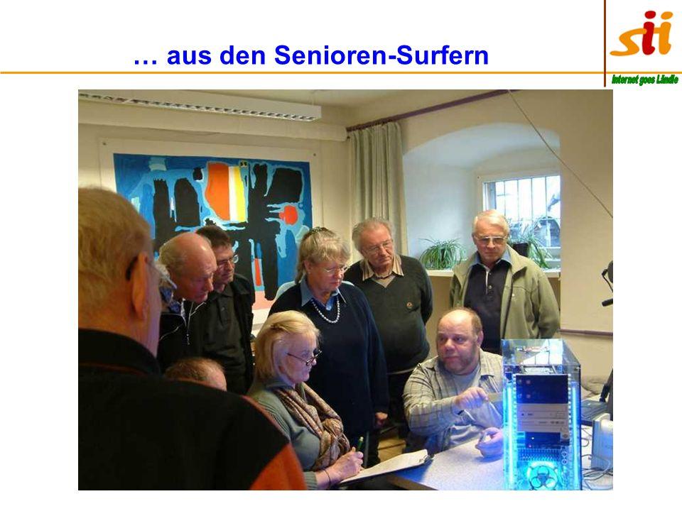 … unsere Senior-Internet-Initiative ist eingegliedert in das Netzwerk 50 Plus Pfullendorf Das Netzwerk 50 Plus ist ein Verein, der seit 2000 besteht u