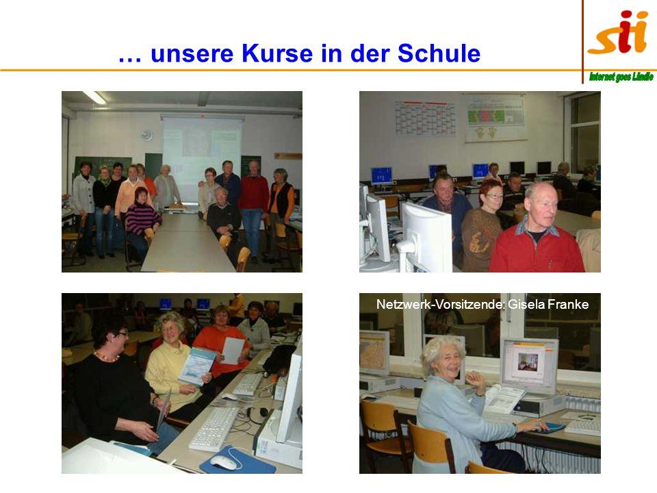 … unsere Kurse in der Schule Netzwerk-Vorsitzende: Gisela Franke