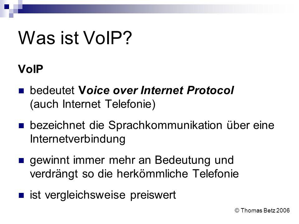 Was ist VoIP? VoIP bedeutet Voice over Internet Protocol (auch Internet Telefonie) bezeichnet die Sprachkommunikation über eine Internetverbindung gew