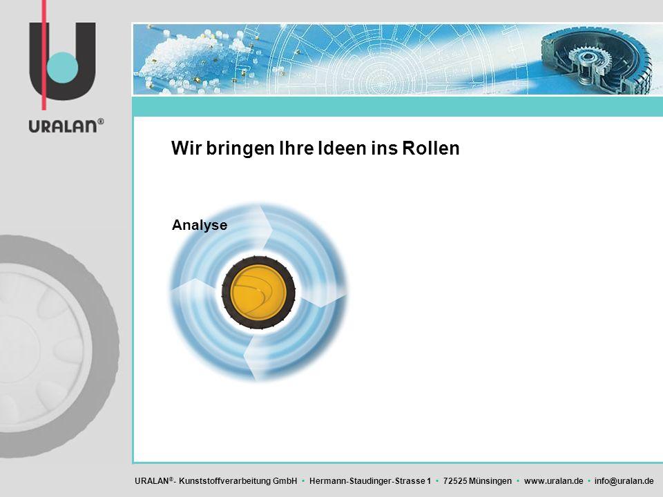 URALAN ® - Kunststoffverarbeitung GmbH Hermann-Staudinger-Strasse 1 72525 Münsingen www.uralan.de info@uralan.de Wir bringen Ihre Ideen ins Rollen Ana